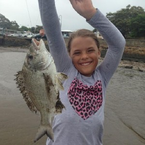Megan's Bream caught at Baxters Jetty